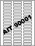 AIT 90001 Blank Label Stock (25 Sheets)