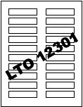 LTO 12301 Blank Label Stock (25 Sheets)