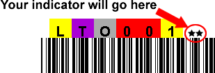 LTO Type 2 Printed Labels